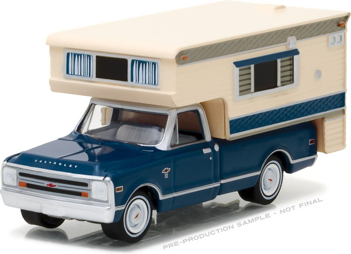 29878 - 1:64 1968 Chevy C10 Cheyenne with Large Camper - 1968 Chevy C10 Cheyenne