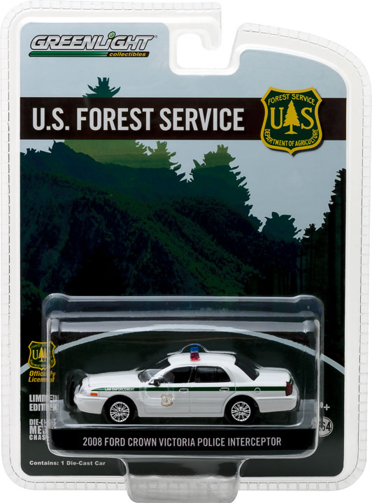 29879 - 1:64 2008 Ford Crown Victoria Police Interceptor Forest Service (USFS) Police
