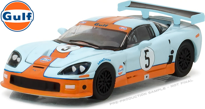 29885 - 1:64 2009 Chevy Corvette C6.R Gulf Oil - 2009 Chevy Corvette C6.R Gulf Oil