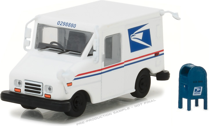 1:64 United States Postal Service (USPS) Long-Life Postal Delivery Vehicle (LLV) with Mailbox Accessory