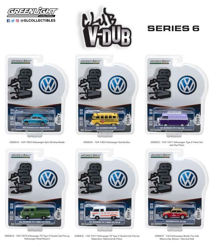 Greenlight 2018 Club V-Dub Serie 6  Volkswagen Käfer Taxi  gold