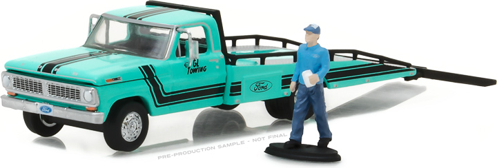 1:64 1967-72 Ford F-350 Ramp Truck with Truck Driver Figure