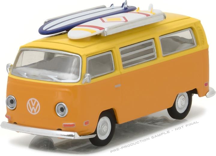 1:64 1971 Volkswagen Type 2 (T2B) Van with Surf Boards