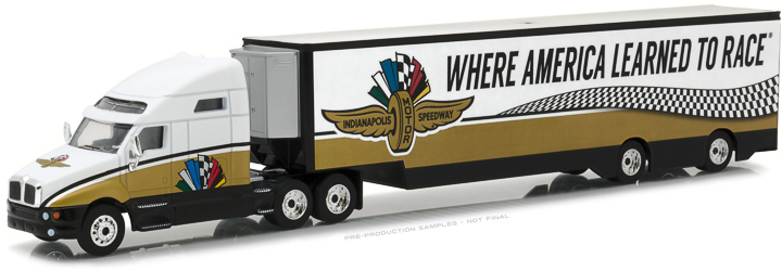 29904 - 1:64 2017 Kenworth T2000 Indianapolis Motor Speedway Wheel, Wings & Flag Transporter