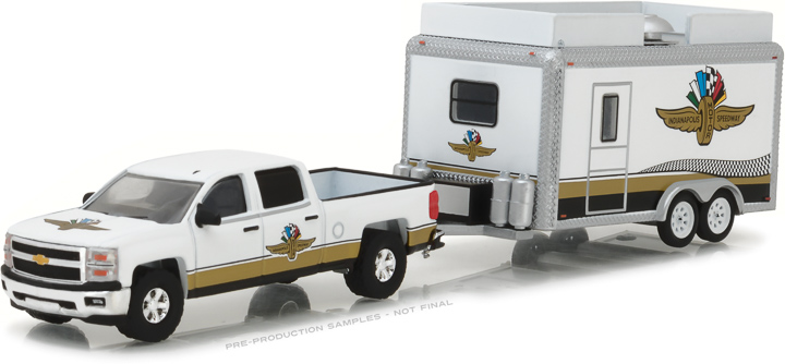 29906 - 1:64 Hitch & Tow - Chevrolet Silverado and Indianapolis Motor Speedway Gift Shop Trailer
