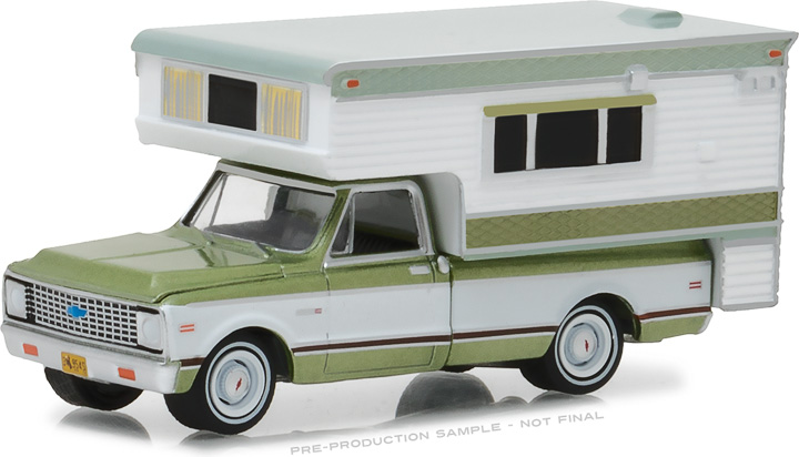 29921 - 1:64 1972 Chevy C10 Cheyenne with Large Camper