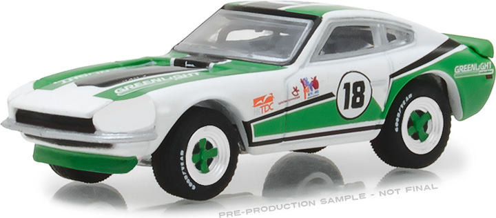 29926 - 1:64 1970 Datsun 240Z - #18 GreenLight Racing Team - 2018 GreenLight Trade Show Exclusive