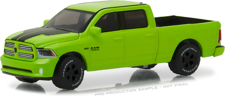 29927 - 1:64 2017 Ram 1500 Sport - Sublime Green Pearl Coat Special Edition