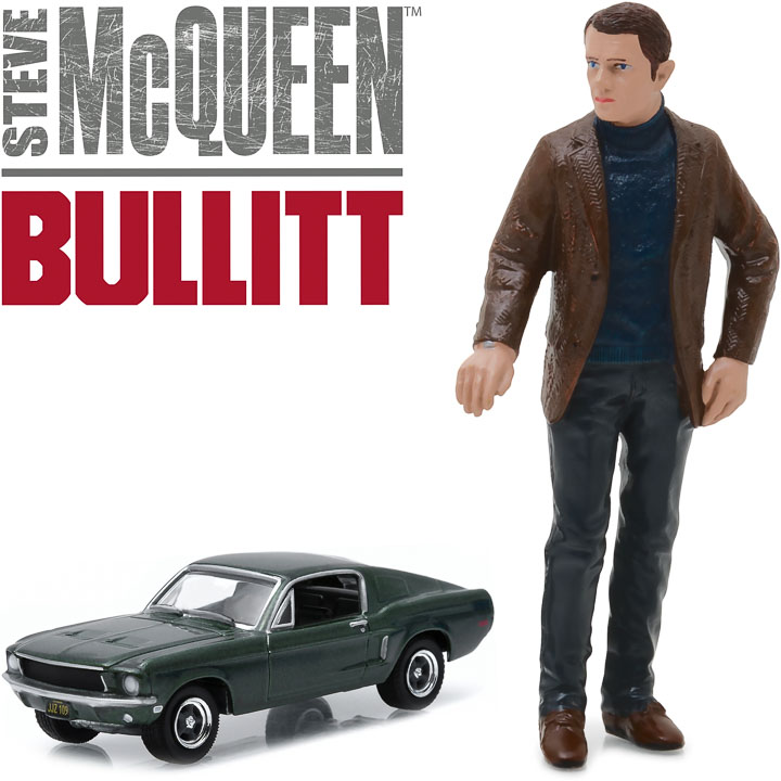 29931 - 1:64 Hollywood - Bullitt (1968) - 1968 Ford Mustang GT Fastback with 1:18 Steve McQueen figure