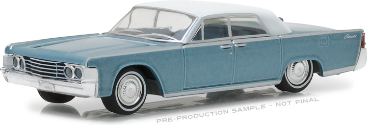 29932 - 1:64 1965 Lincoln Continental Convertible Top-Up - Huron Blue with White Soft Top