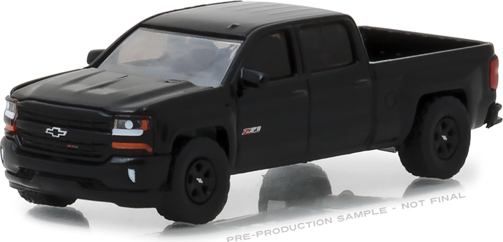 1:64 2018 Chevrolet Silverado 1500 Z71 Crew Cab Midnight Edition
