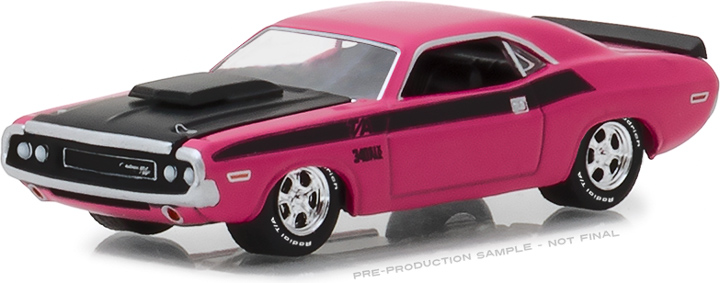 "1:64 BFGoodrich Vintage Ad Cars - 1970 Dodge Challenger T/A ""The Only Name Tattooed On More Muscles is Mom"""
