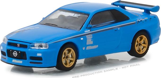 "1:64 BFGoodrich Vintage Ad Cars - 2001 Nissan Skyline GT-R (R34) ""Track Meat"""
