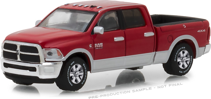 29953 - 1:64 2018 Ram 2500 Big Horn - Harvest Edition - Case IH Red