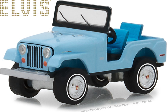 1:64 Elvis Presley (1935-77) - Jeep CJ-5 - Sierra Blue