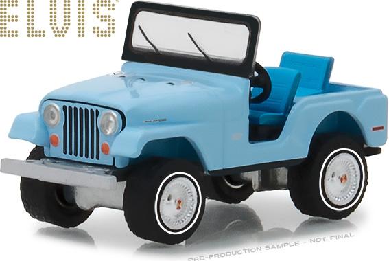 1:64 Elvis Presley (1935-77) - Jeep CJ-5 - Sierra Blue