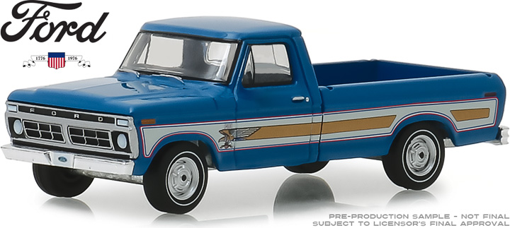 29966 - 1:64 1976 Ford F-100 Bicentennial Option Group - Bahama Blue