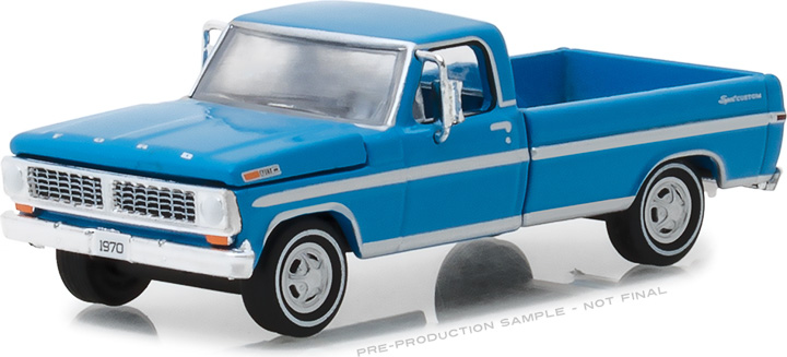 29967 - 1:64 1970 F-100 Explorer Special (Long Bed) - Grabber Blue
