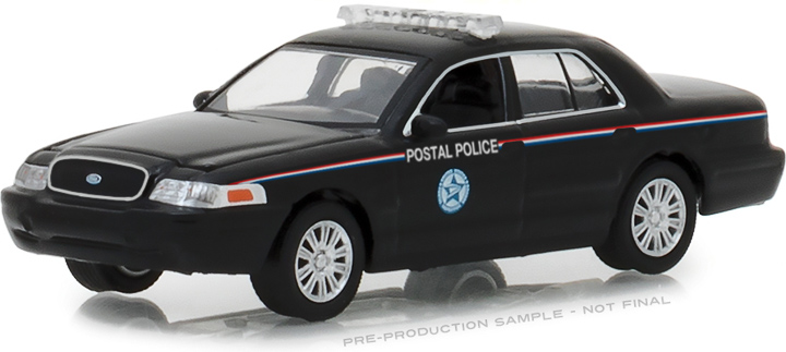 29971 - 1:64 2010 Ford Crown Victoria Police Interceptor United States Postal Service (USPS) - Black