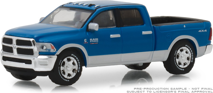 29973 - 1:64 2018 Ram 2500 Big Horn - Harvest Edition - New Holland Blue