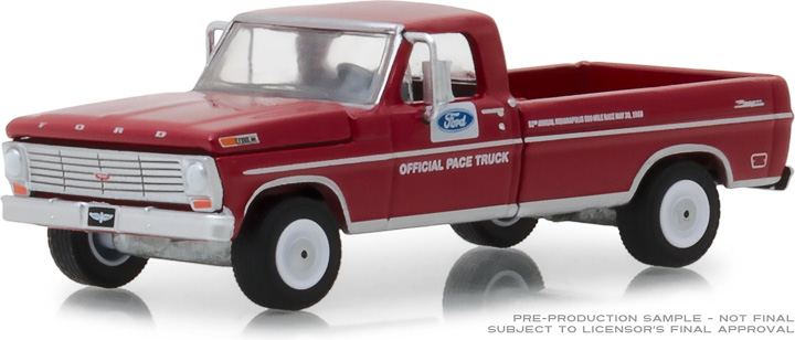 29978 - 1:64 1968 Ford F-100 52nd Annual Indianapolis 500 Mile Race Official Truck (Long Bed)