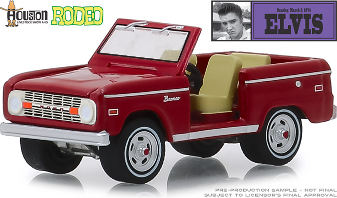 29984 - 1:64 Elvis Presley (1935-77) - Ford Bronco - 1974 Houston Livestock Show and Rodeo, Houston Astrodome
