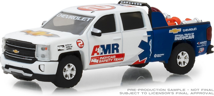 29991 - 1:64 2018 Chevrolet Silverado - AMR IndyCar Safety Team with Safety Equipment in Truck Bed