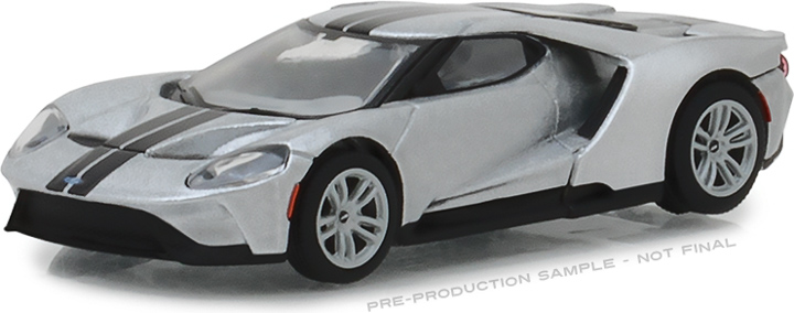 29992 - 1:64 2017 Ford GT - Ingot Silver with Black Stripes