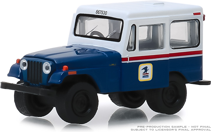 29998 - 1:64 1971 Jeep DJ-5 United States Postal Service (USPS) - Blue with White Roof