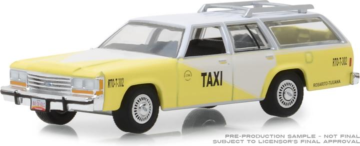 30002 - 1:64 1988 Ford LTD Crown Victoria Wagon - Rosarito Beach, Baja California, Mexico Taxi
