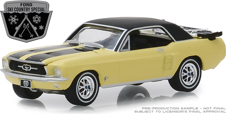 30007 - 1:64 1967 Ford Mustang Coupe Ski Country Special - Breckenridge Yellow