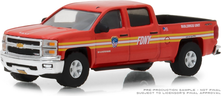 30009 - 1:64 2015 Chevrolet Silverado FDNY (The Official Fire Department City of New York)