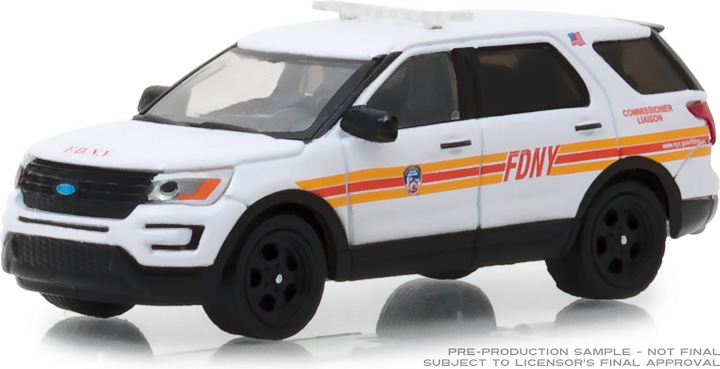 30012 - 1:64 2017 Ford Interceptor Utility FDNY (The Official Fire Department City of New York) Commissioner Liaison