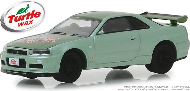 30017 - 1:64 2000 Nissan Skyline GT-R (R34) - Two-Tone Green - Turtle Wax