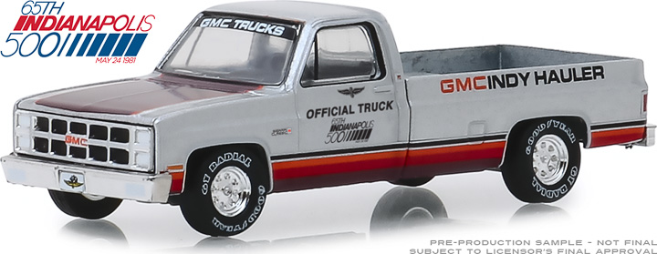 30027 - 1:64 1981 GMC Sierra Classic 1500 65th Annual Indianapolis 500 Mile Race Official Truck