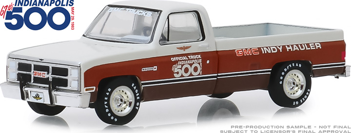 30028 - 1:64 1983 GMC Sierra Classic 1500 67th Annual Indianapolis 500 Mile Race Official Truck