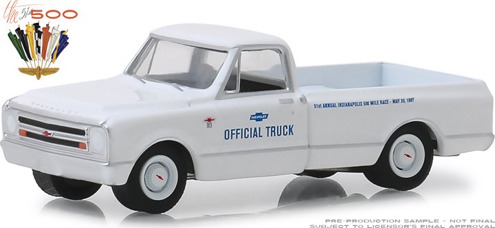 30029 - 1:64 1967 Chevrolet C-10 51st Annual Indianapolis 500 Mile Race Official Truck