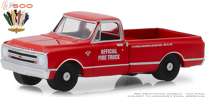 30030 - 1:64 1967 Chevrolet C-10 51st Annual Indianapolis 500 Mile Race Official Fire Truck