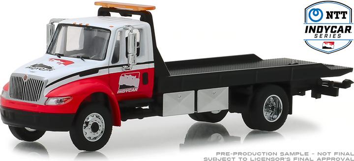 30033 - 1:64 2019 International Durastar 4400 IndyCar Series Flatbed Truck