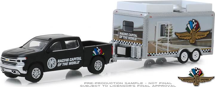 30034 - 1:64 Hitch & Tow - 2019 Chevrolet Silverado and Indianapolis Motor Speedway Trailer