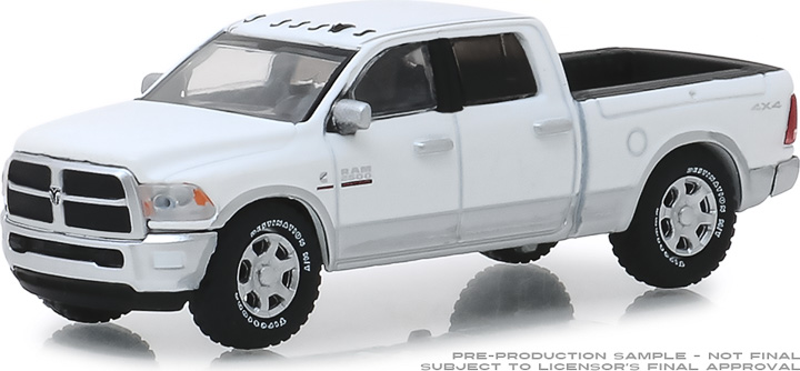 30048 - 1:64 2018 Ram 2500 Big Horn - Harvest Edition - Bright White and Bright Silver