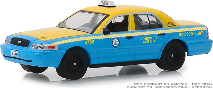 30055 - 1:64 2011 Ford Crown Victoria Checker Cab Co. Taxi City of Los Angeles, California