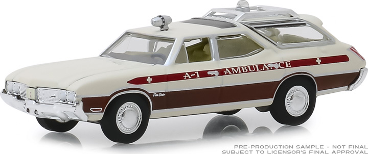 30066 - 1:64 1970 Oldsmobile Vista Cruiser - Waco, Texas A-1 Ambulance