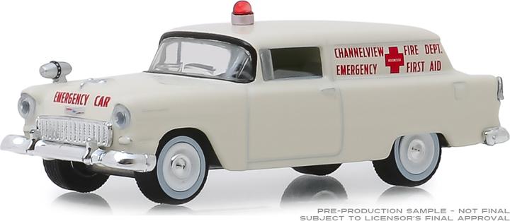 30071 - 1:64 1955 Chevrolet Sedan Delivery - Channelview, Texas Fire Department Volunteer Emergency Car