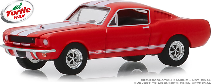 30072 - 1:64 Turtle Wax Ad Cars - 1965 Shelby GT350 Wax Before You Rider