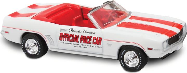 30082 - 1:64 Mario Andretti 50th Anniversary Indianapolis 500 Victory - 1969 Chevrolet Camaro Convertible Pace Car