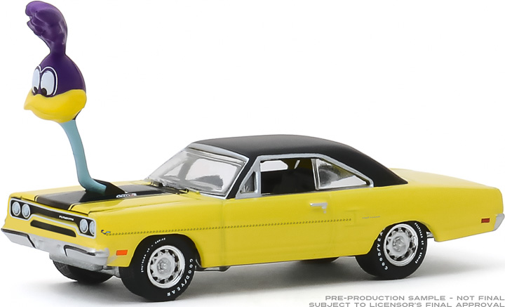 30088 - 1:64 1970 Plymouth Road Runner with The Loved Bird Road Runner Air Grabber Figure