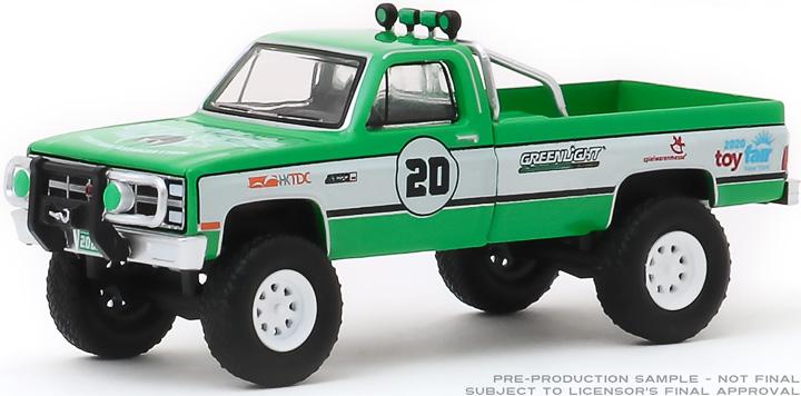 30102 - 1:64 1981 GMC K-2500 - #20 GreenLight Stuntman Association - 2020 GreenLight Trade Show Exclusive