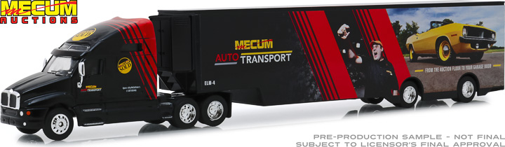 30106 - 1:64 Kenworth T2000 Mecum Auctions Mecum Auto Transport Transporter From the Auction Floor to Your Garage Door
