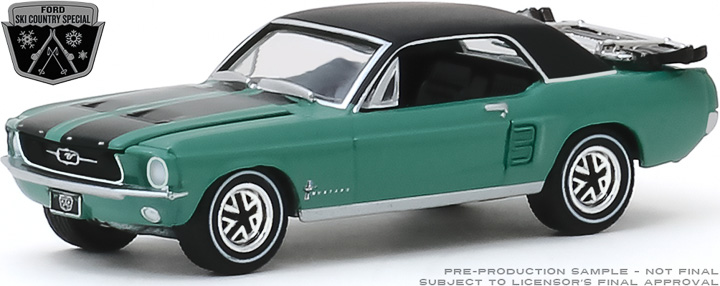 30113 - 1:64 1967 Ford Mustang Coupe Ski Country Special - Loveland Green